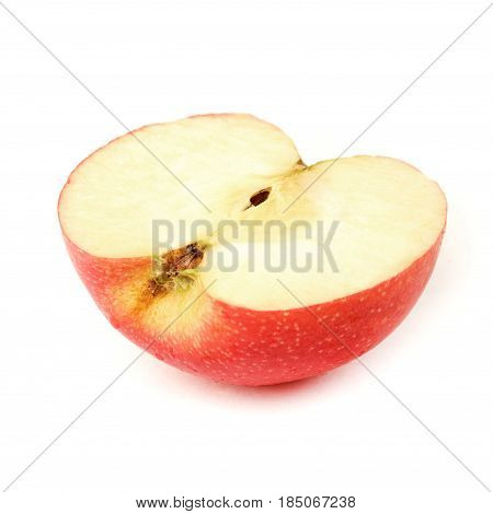 fresh red apple on white background isolated