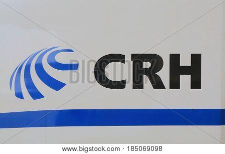 SHANGHAI CHINA - NOVEMBER 4, 2016: CRH China Railway High speed. China Railway High speed is the high speed rail service operated by China Railway