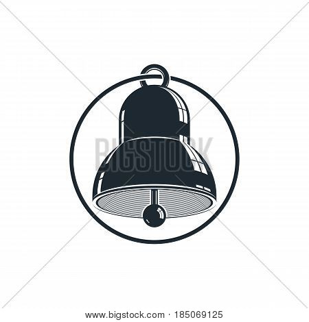 3D Stylish Bell Isolated On White. Detailed High Quality Illustration. Three-dimensional Design Elem