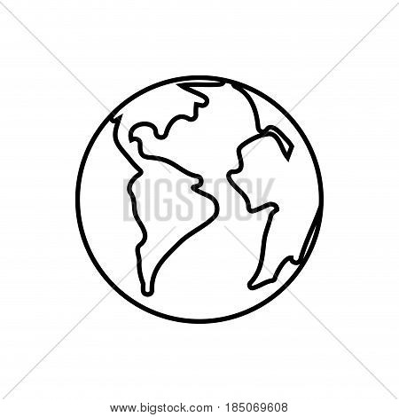 World earth isolated icon vector illustration graphic design
