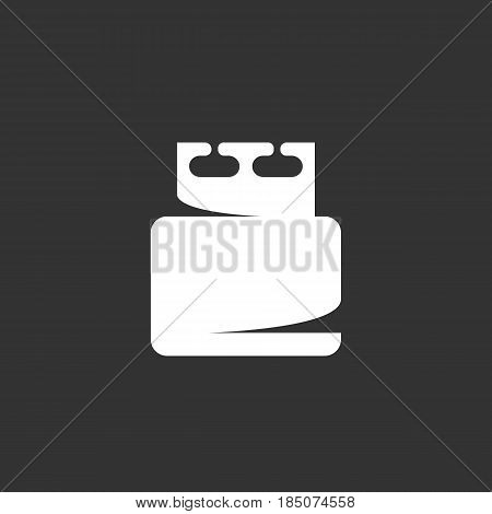 USB flash drive vector logo isolated on a black background. Icon silhouette design template. Simple symbol concept in flat style. Abstract sign pictogram for web mobile and infographics