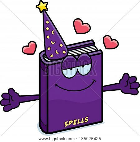Cartoon Spell Book Hug