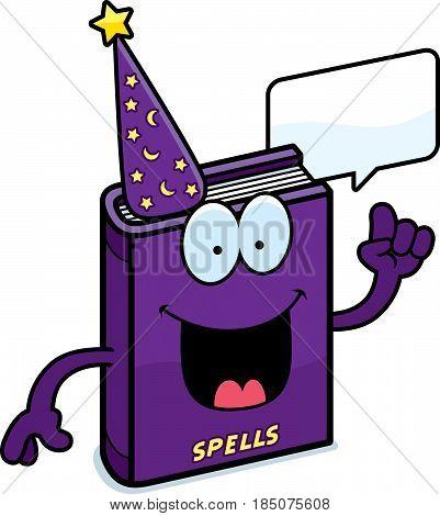 Cartoon Spell Book Talking
