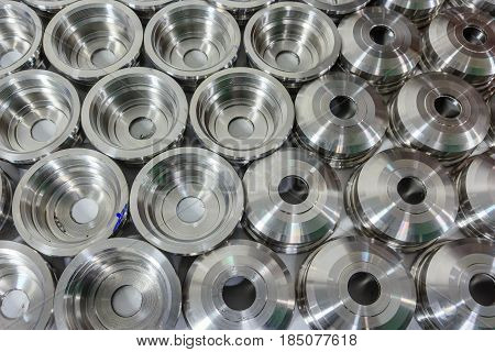 Metal parts machined on a lathe, Spare part