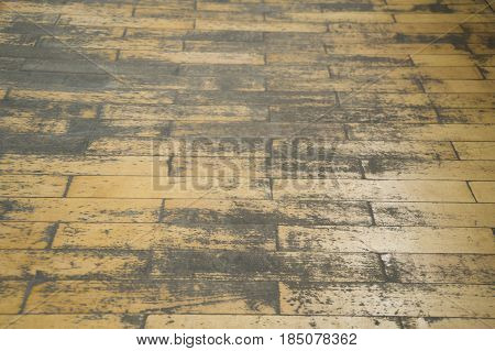 On the photo of the old parquet floor