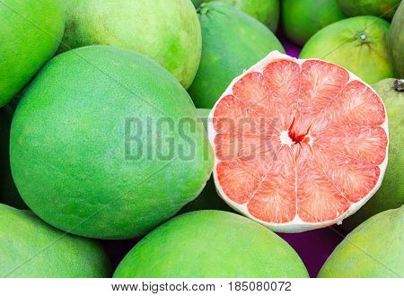 Siam ruby pomelo fruit The Ruby of Siam is a breed of grapefruit and renowned 5-star OTOP products symbols of the proud city of old harbor town Pak phanang of Nakhon SI thammarat