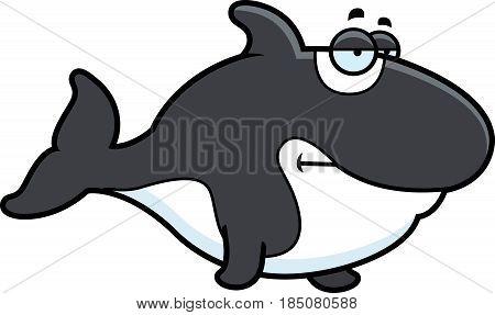 Bored Cartoon Killer Whale