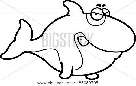 Angry Cartoon Killer Whale