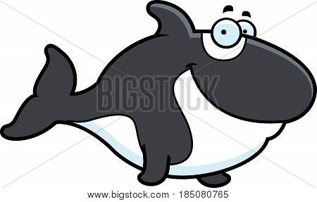 Cartoon Killer Whale Smiling
