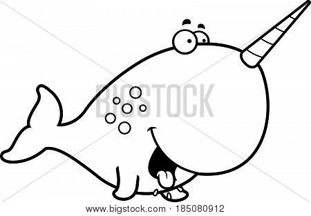 Hungry Cartoon Narwhal