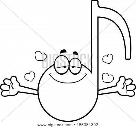 Cartoon Musical Note Hug