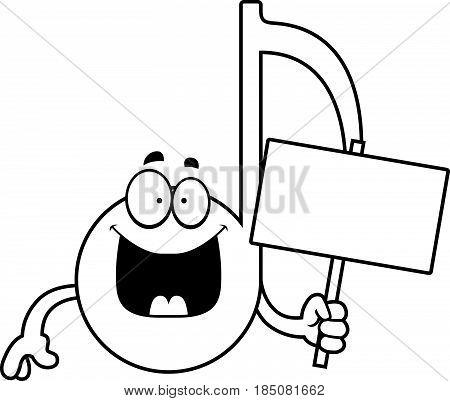 Cartoon Musical Note Sign