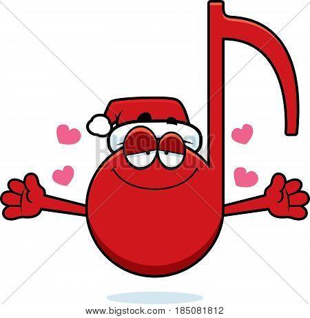 Cartoon Christmas Music Hug