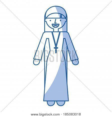 Catholic nun avatar character vector illustration design