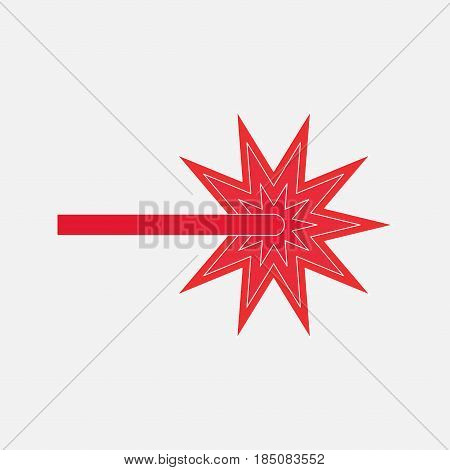icon red laser beam, FO application for web sites, fully editable vector image