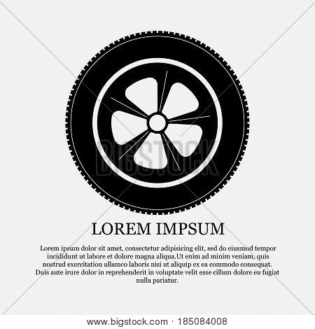 icon wheel, tire, repair, help, fully editable vector image