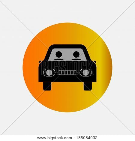 icons at the taxi, bus, car, fully editable vector image