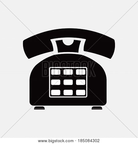 phone icon retro, old, means of communication, fully editable vector image