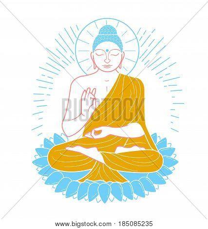 Icon  Buddha  Line