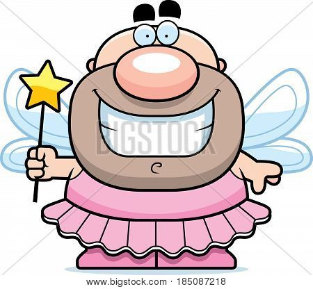 Smiling Cartoon Tooth Fairy
