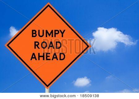 Bumpy Road Ahead Sign