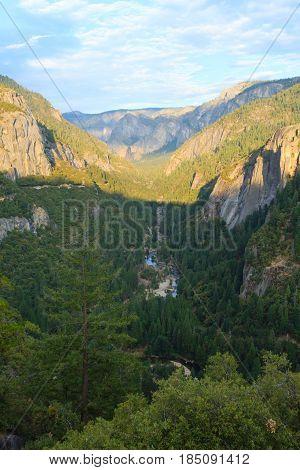 Panorama Of The Yosemite Valley