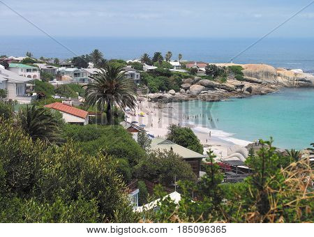 VIEW OF CLIFTON BEACH, CAPE TOWN SOUTH AFRICA 23bylc
