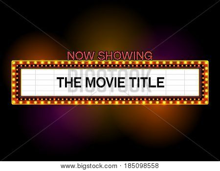 theater sign cinema sign las vegas sign vector illustration