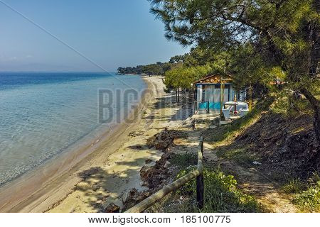 Amazing view of beach in Thassos island, East Macedonia and Thrace, Greece