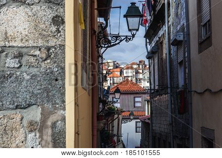 Buildings of Old Town in Porto city Portugal