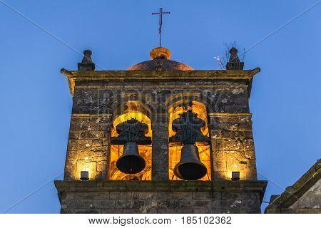 Bell tower of Serra do Pilar Monastery in Porto Portugal