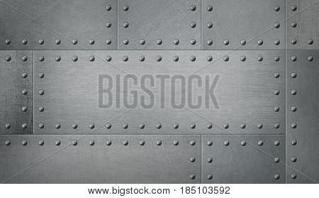 Armor metal background 3d illustration