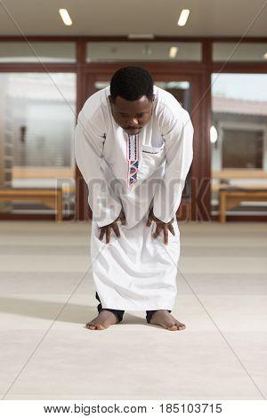 Humble African Muslim Prayer