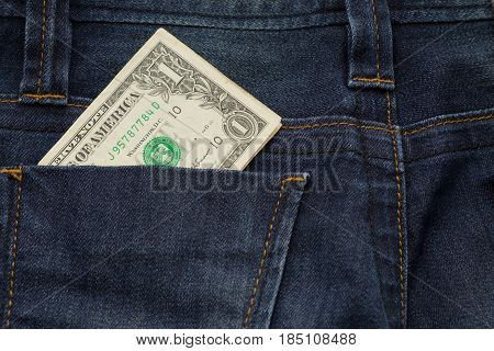 One Dollar Cash Insert Back Pocket Blue Jean Pants This Image For Fashion,texture