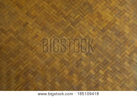 Old brown Bamboo basketry. this image for texture and background