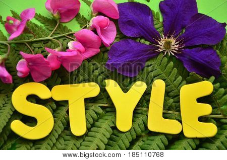 word style on a  abstract colo0rful background