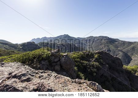 Boney Mountain State Wilderness Area in the Santa Monica Mountains National Recreation Area near Malibu California.