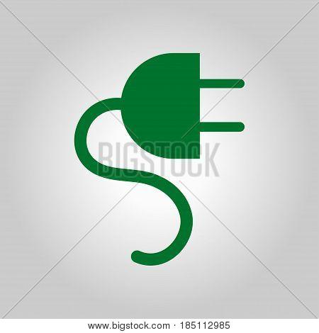 Vector electrical plug symbol. Web flat icon.