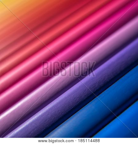 Abstract Background Texture Of Multicoloured Drawing Pencils
