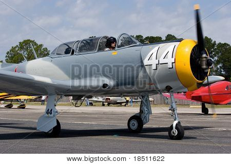 PALM COAST, FLORIDA - MARCH 27: A plane prepares to take off at the Wings Over Flagler Air Show at the Flagler County Airport on March 27, 2010 in Palm Coast, Florida.