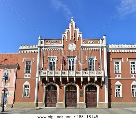 VRSAC SERBIA - 04.30.2017: city hall facade landmark architecture