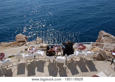26 march 2009-Dubrovnick-croazia- View of the Tyrrhenian Sea from dubrovnik city