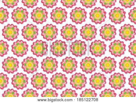 Seamless floral background flower pattern on seamless fabric, website, wrapping paper.