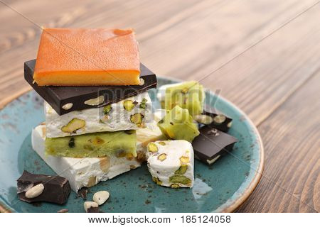 Plate With Different Turron