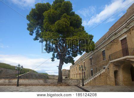 Inward Yard Of A Medieval Fort