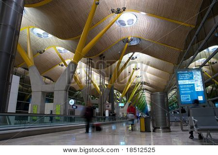 MADRID - DEC 6: Madrid airport re-opened after air traffic controllers ended their strike which had paralyzed Spain's air links. The Madrid Barajas Airport on December 6, 2010 in Madrid, Spain.