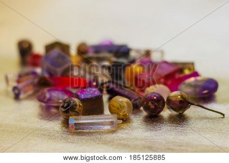 Crystals Made Of Epoxy Resin Close-up