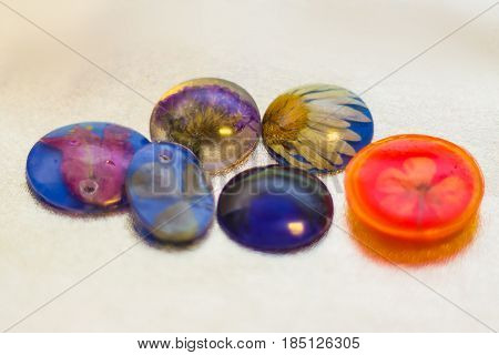 Six Crystals Made Of Epoxy Resin