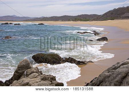 Sandy coast on the Mexican Pacific Ocean Cabo Corrientes