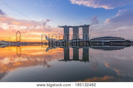 SINGAPORE - MAY 15: Marina Bay Sands World's most expensive standalone casino property in Singapore at S$8 billion on May 15 2016